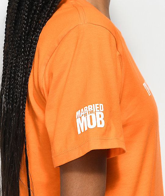 Married To The Mob Trust Issues Orange T-Shirt