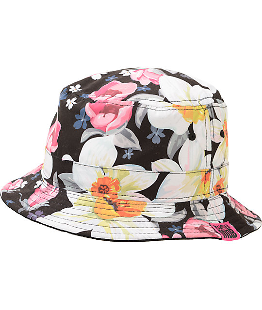 Married To the Mob Tropical Fantasy Floral Bucket Hat