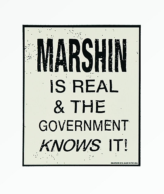 Marshin Is Real Sticker