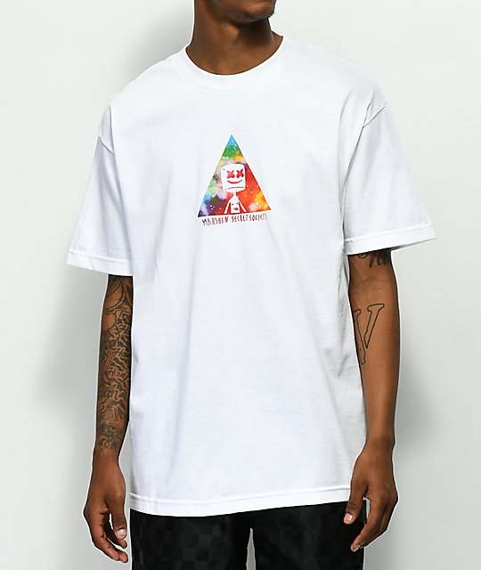 Marshin Triangle Society White T-Shirt