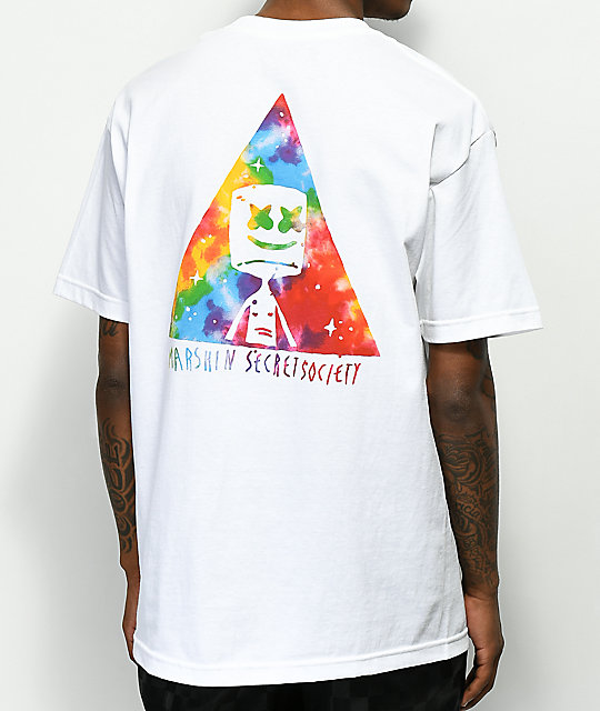 Marshin Triangle Society camiseta blanca