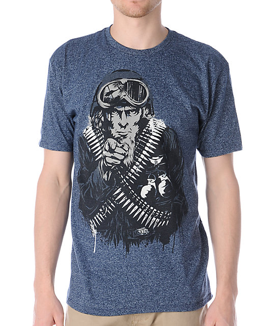 Mass Exodus The Recruit Navy Blue T-Shirt