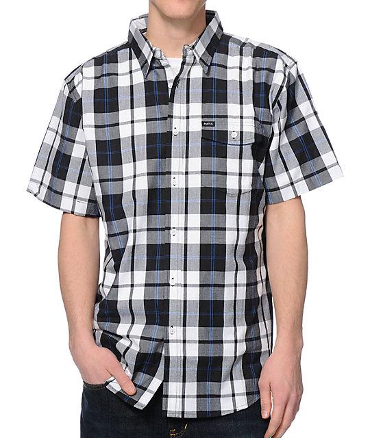 c86d5926e99 Matix Clientel Black & White Plaid Button Up Shirt | Zumiez