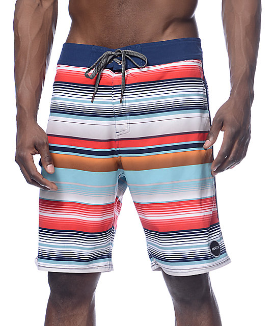 0385f9314b Matix Cortez Blue and Multi Board Shorts | Zumiez