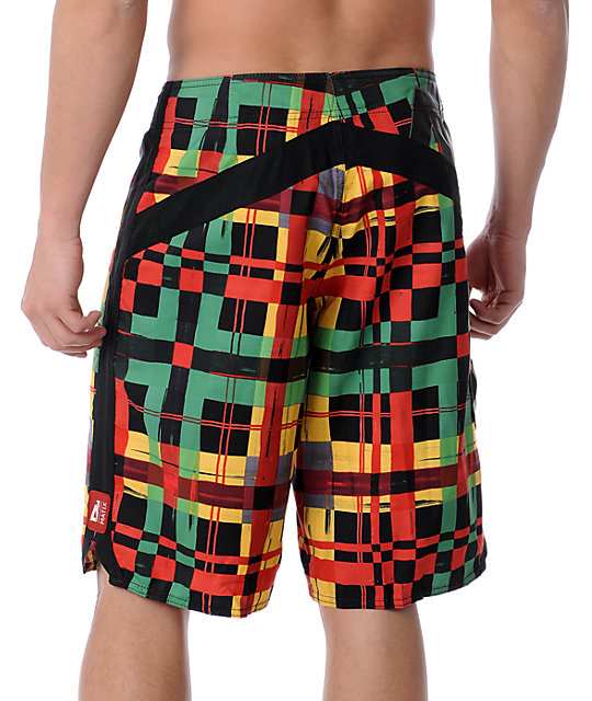 Matix Dingdong Black Rasta Board Shorts