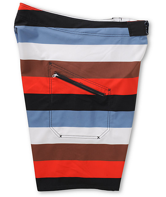 Matix Dominator White Stripe Board Shorts