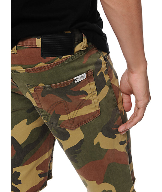 Matix Gripper Camo Slim Straight Twill Shorts