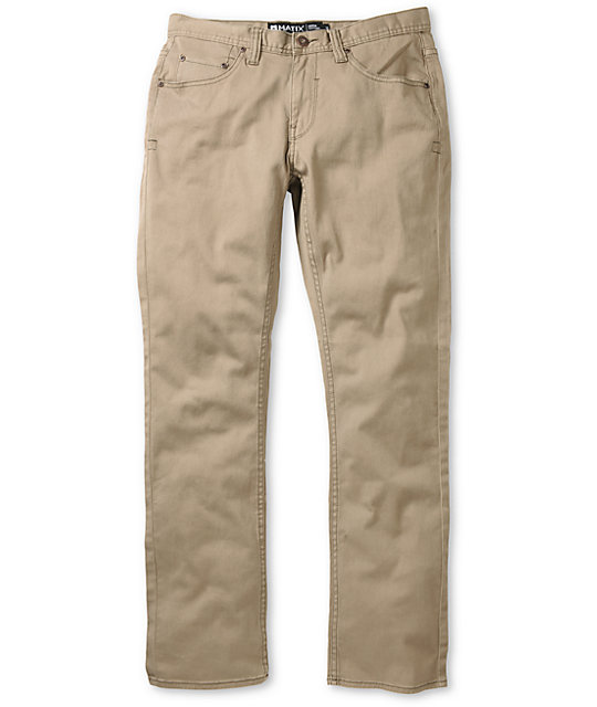 Matix Gripper Slim Fit Twill Khaki Pants