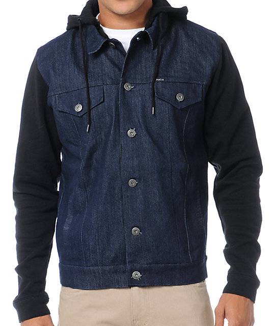 Matix Hemsworth Black & Denim Fleece Jacket