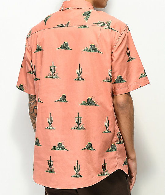 Matix High Desert Pink Short Sleeve Button Up Shirt