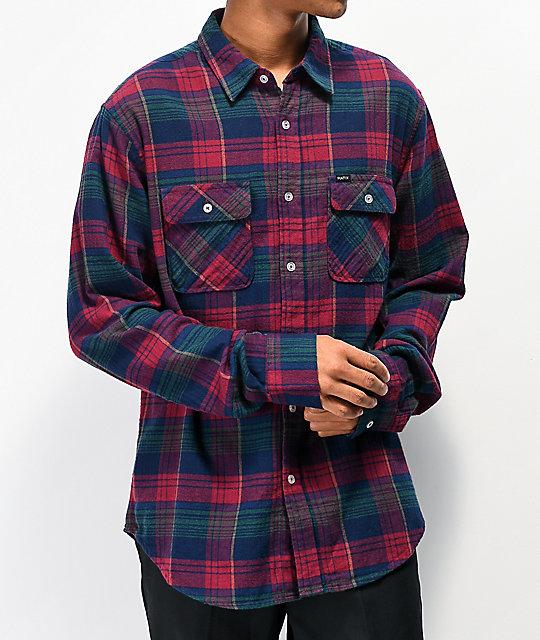 navegar por las últimas colecciones replicas estilo limitado Matix Indio camisa de franela roja, azul y verde