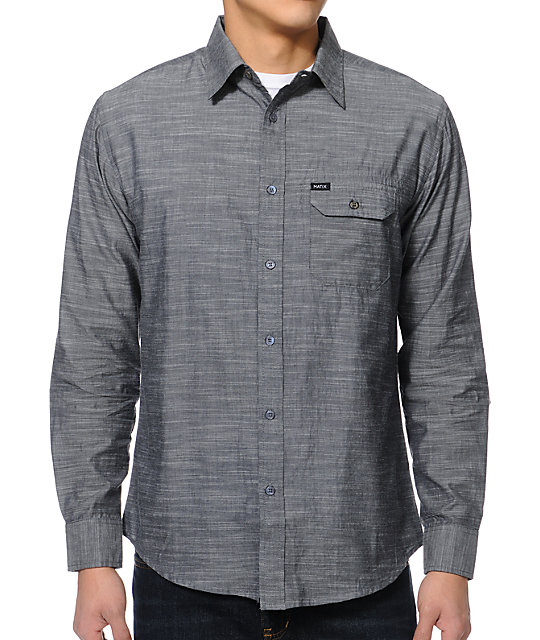 Matix Louisville Charcoal Long Sleeve Button Up Shirt