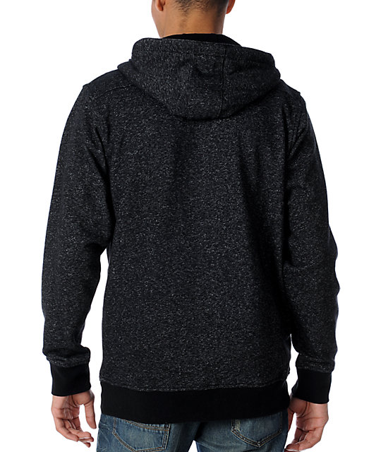 Matix Megano Heather Black Zip Up Hoodie