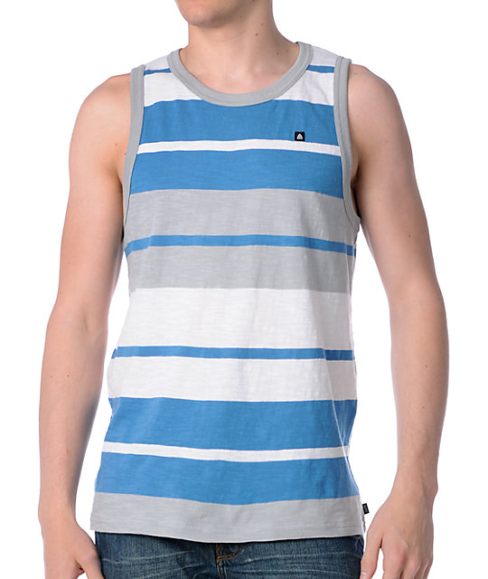 Matix Partition Blue Tank Top