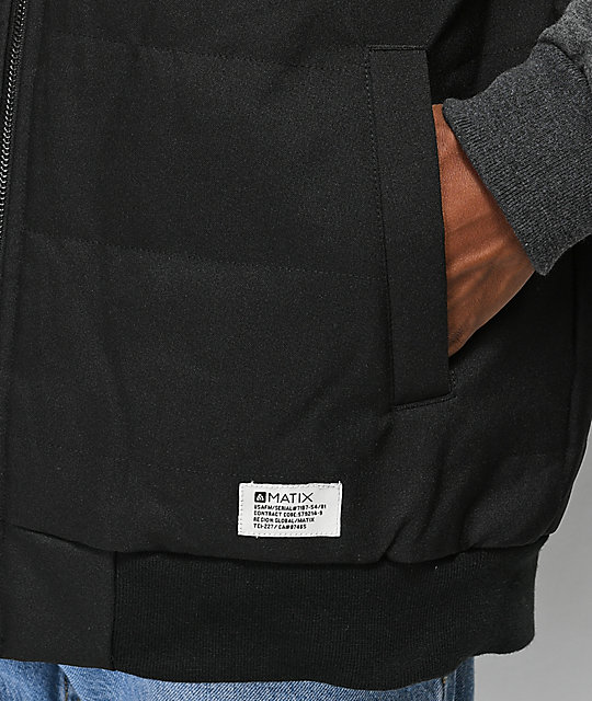 Matix Summit Asher Black & Charcoal 2Fer Jacket