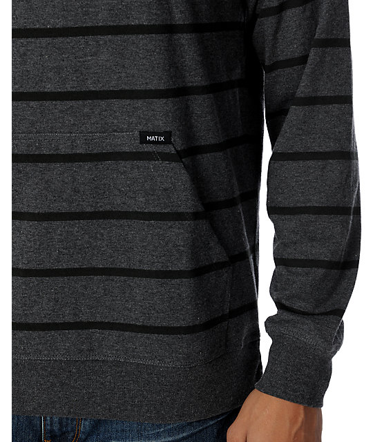 Matix Trugoy Charcoal Knit Henley Hoodie