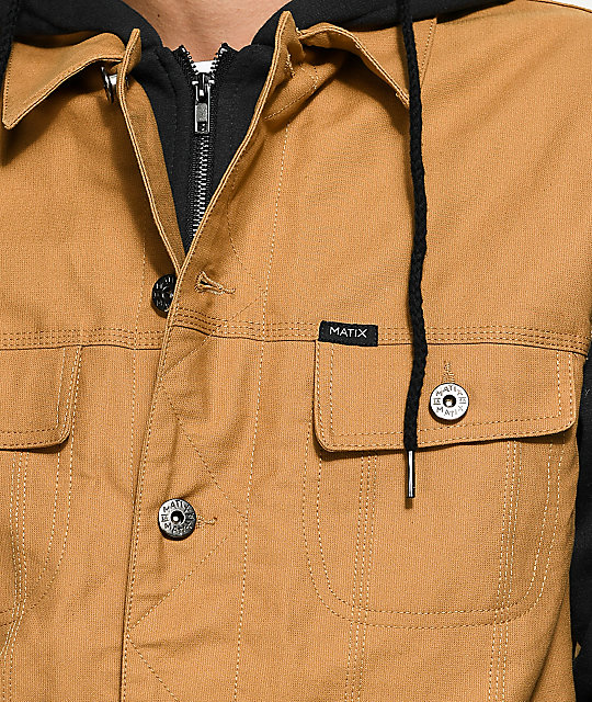 Matix Union Trucker Dark Khaki & Black Jacket