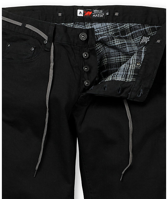 Matix Wiig 2 Black Flannel Lined Denim Jeans