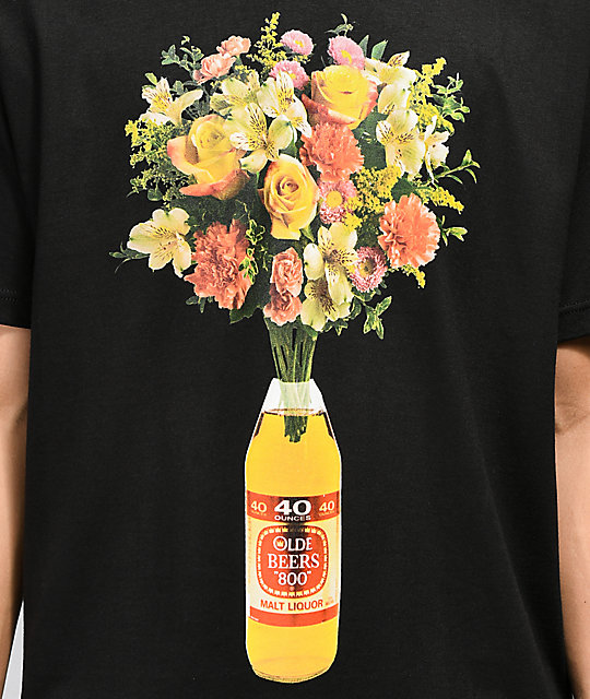 Meet Here For Beers 40 oz Of Beauty Black T-Shirt