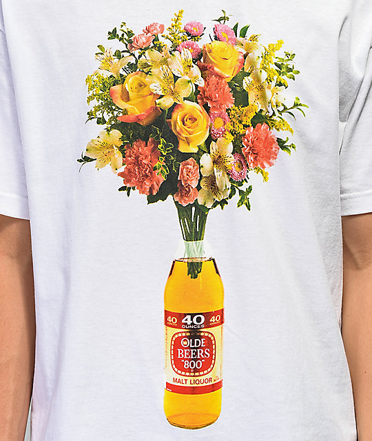 Meet Here For Beers 40 oz Of Beauty White T-Shirt