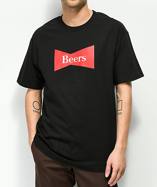 Meet Here For Beers Home Brew Black T-Shirt