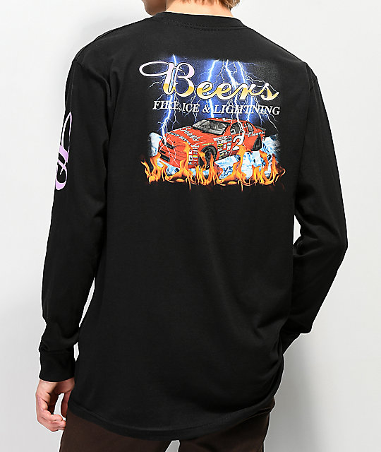 Meet Here For Beers Racing Team Black Long Sleeve T-Shirt