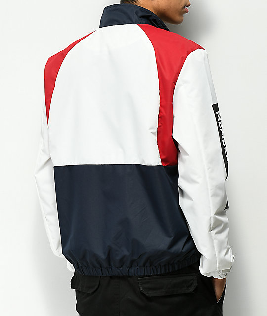 Members Only Colorblock Red, White & Blue Jacket