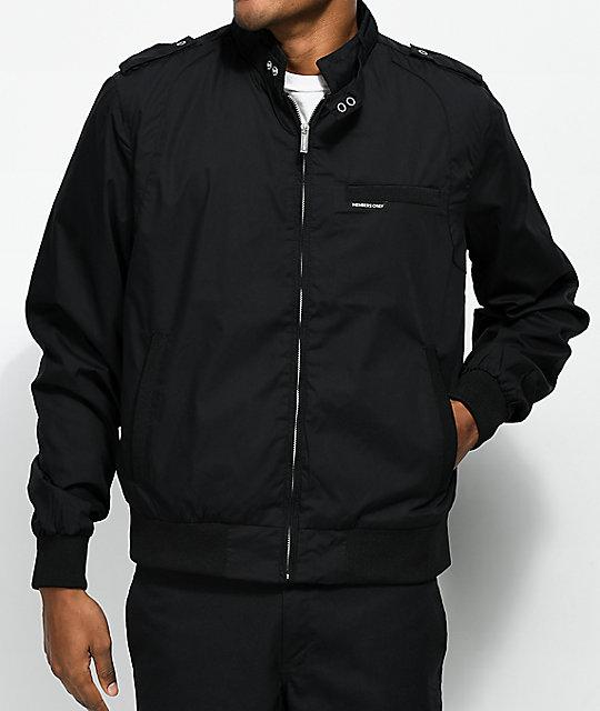 members only iconic black racer jacket zumiez