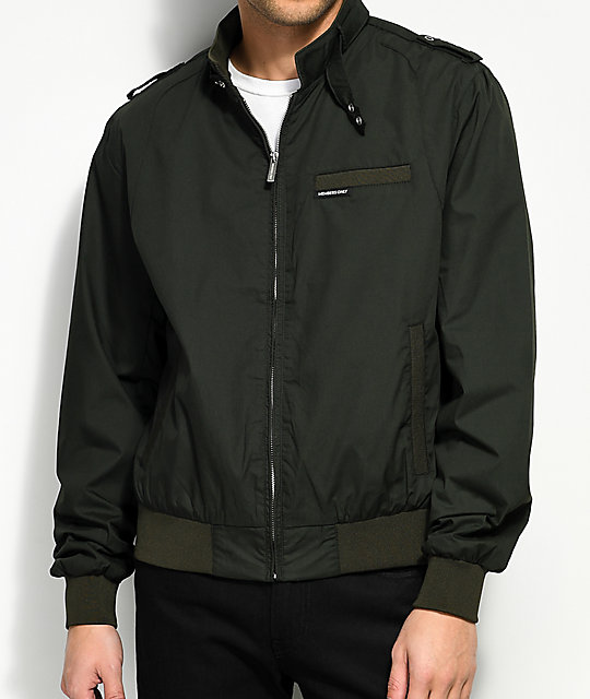 members only iconic racer green jacket zumiez