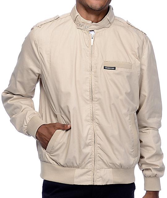 members only iconic racer khaki jacket zumiez