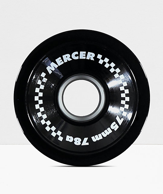 Mercer 75mm 78a Black Longboard Wheels