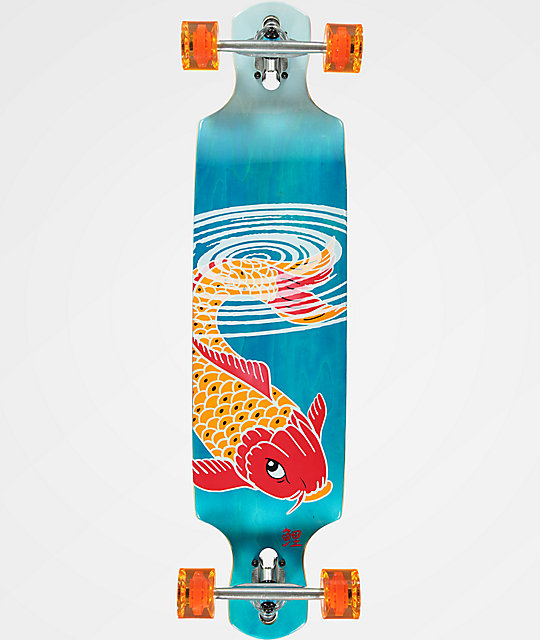 "Mercer Double Koi Ripples 40"" Drop Through longboard completo"
