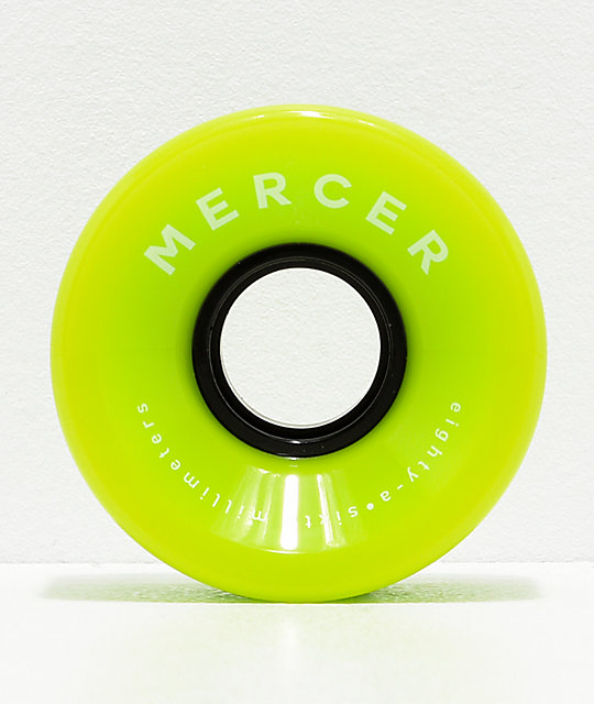 Mercer Green 60mm 80a Cruiser Skateboard Wheels