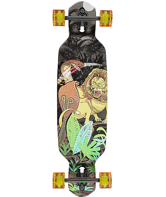 "Mercer Lion VS Cobras Double Drop Through 35.5"" Longboard Complete"
