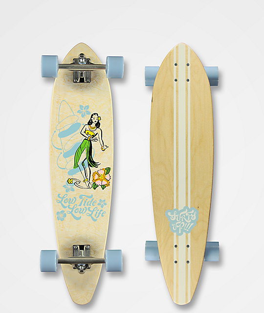 "Mercer Low Tide 35"" Pintail Longboard Complete"