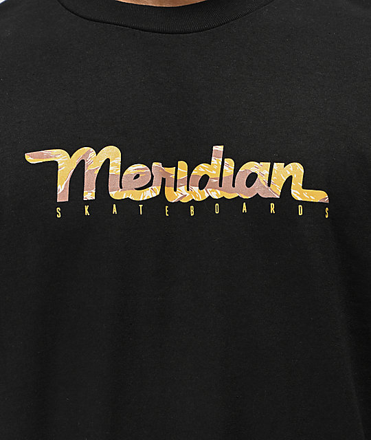Meridian Jungle Black Long Sleeve T-Shirt