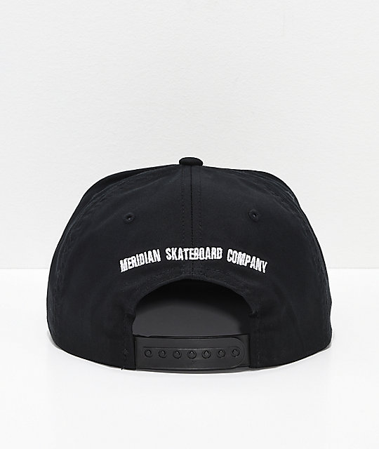 Meridian Skateboards 93 Black Snapback Hat