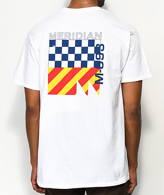 Meridian Skateboards 93M White T-Shirt