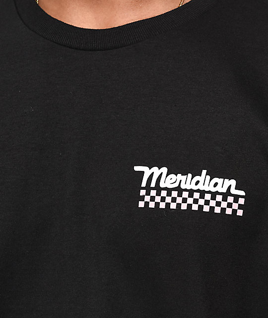 Meridian Skateboards Leg Check Black T-Shirt