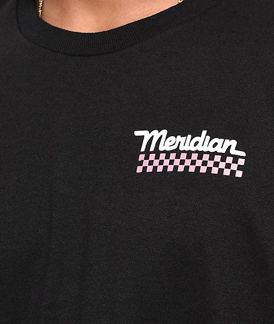 Meridian Skateboards Rose Camo Black T-Shirt