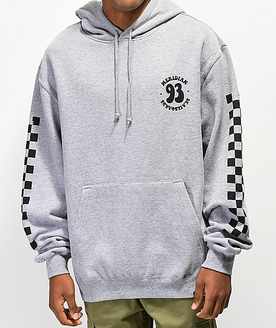Meridian Skateboards Smile 93 Grey Hoodie