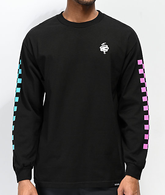 Meridian Skateboards Snakes Hang Out Black Long Sleeve T-Shirt