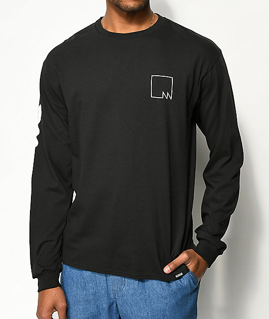 Meridian Skateboards Submariner Black Long Sleeve T-Shirt