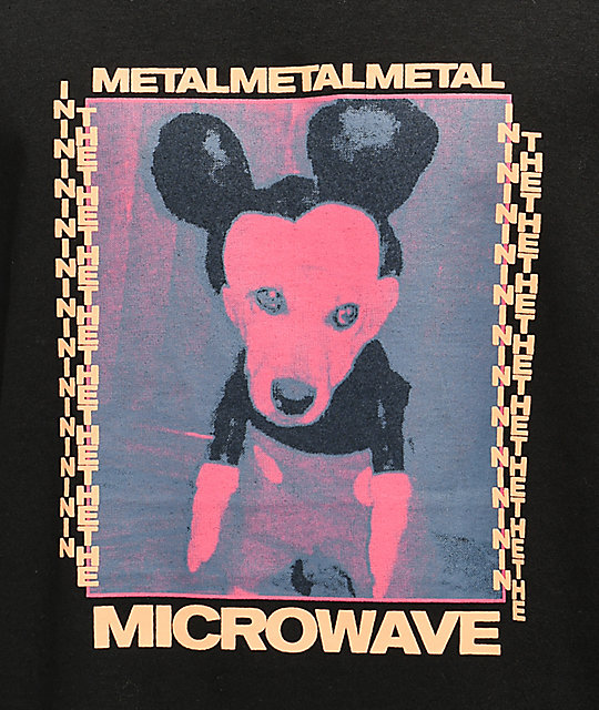 Metal In The Microwave Doggey camiseta negra