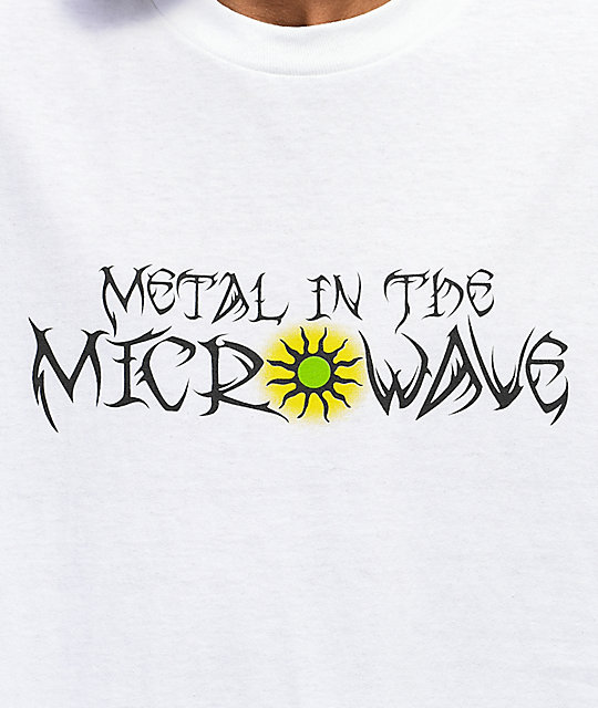 Metal In The Microwave Tribal camiseta blanca