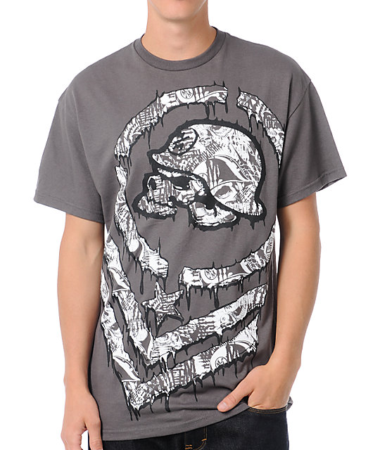 Metal Mulisha Big Deal Grey T-Shirt
