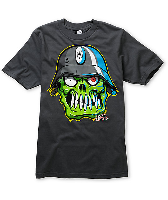 Metal Mulisha Boys Bonehed Charcoal T-Shirt
