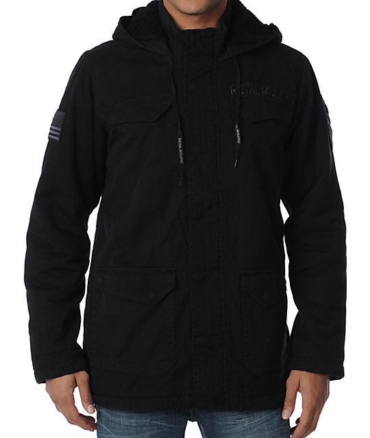 Metal Mulisha Conceal Black Sherpa Jacket