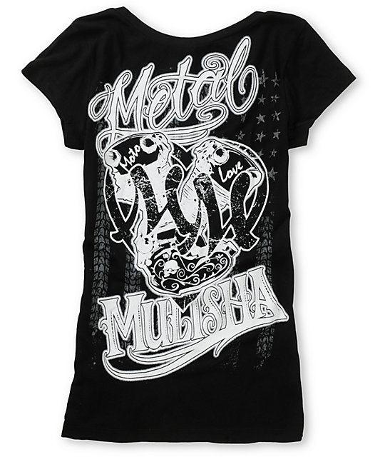 Metal Mulisha Country Love Black Scoop Neck T-Shirt