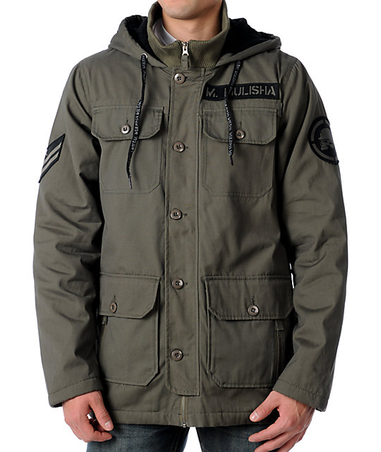 Metal Mulisha Covert Military Green Jacket